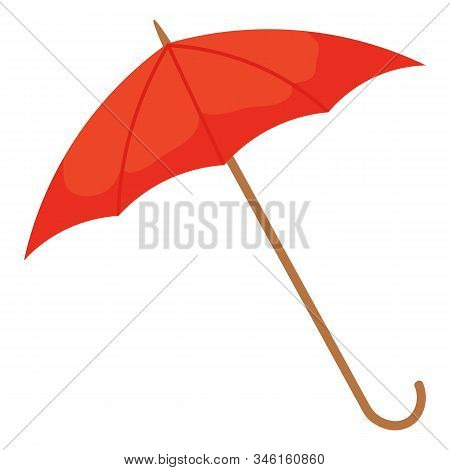 Umbrella Accessory Protecting From Bad Weather Conditions. Isolated Icon Of Water Resistant Parasol