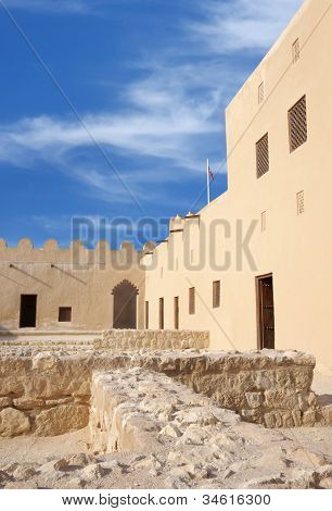 A closure look in the western part of Riffa Fort Bahrain