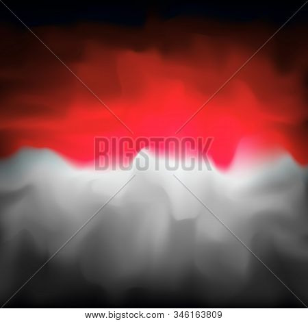 Indonesia Abstract Flag Background For Creative Design. Graphic Abstract Dark Background. Indonesian
