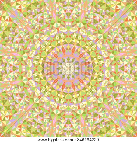 Dynamic Geometrical Tiled Triangle Mosaic Pattern Mandala Background Design - Circular Psychedelic C