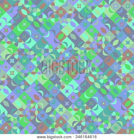 Colorful Chaotic Curved Shape Pattern Background - Abstract Vector Illustration