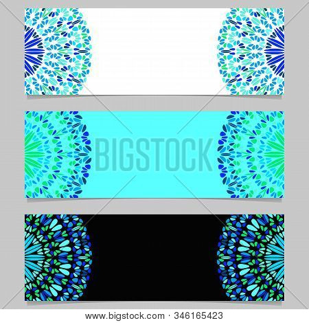 Gravel Mandala Banner Template Set - Colorful Abstract Vector Graphic Elements