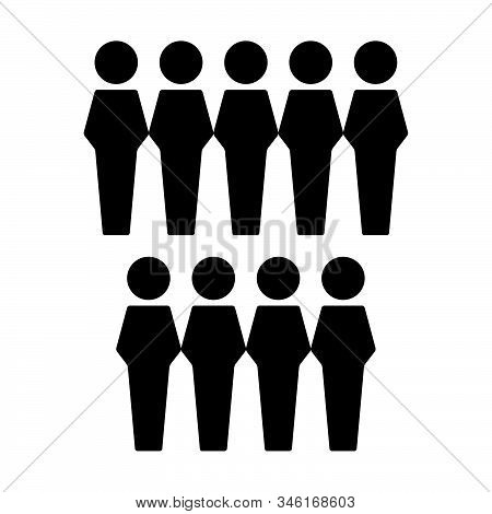 People Icon Vector Male Group Of Persons Symbol Avatar For Business Management Team In Flat Color Gl