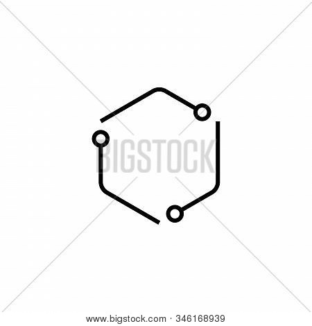 Lab Recycle Logo Vector Illustration. Stock Vector Illustration Isolated On White Background.