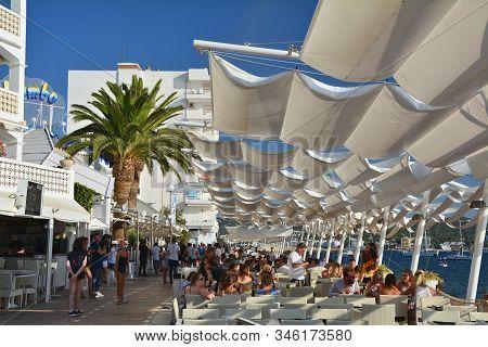 Ibiza, Spain - July 12, 2017: Cafe Mambo In San Antonio De Portmany On Ibiza Island. It Is A Famous