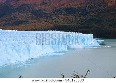 Perito Moreno Glacier With The Ice Calving Into The Lake, Patagonia, Argentina, South America