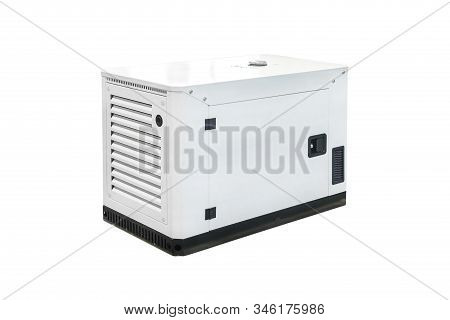 Mobile, Portable Diesel Or Gasoline Generator With, With Remote Control, Isolated On White Backgroun