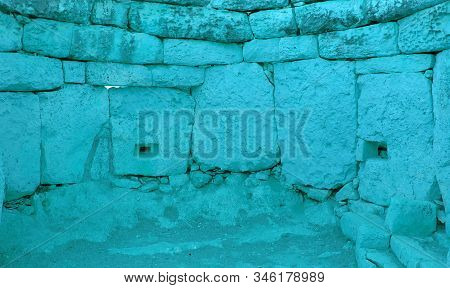 Ancient Stone Monument In Malta Close To The Coast