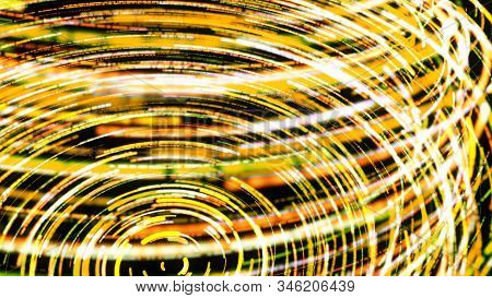 3d Animation Of Twisting Digital Spiral Of Neon Stripes. Animation. Vivid Animation With Colorful St