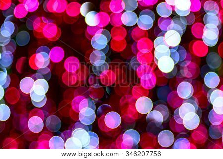 Abstract Glitter Lights Multicolored, De-focused. Bokeh Glowing Design.