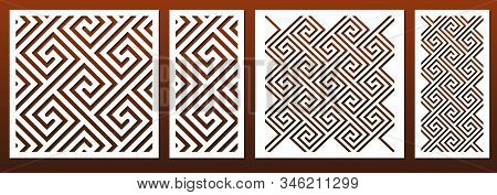 Laser Cut Template Set, Abstract Geometric Pattern In Celtic Traditional Style. Panel Decor, Metal C