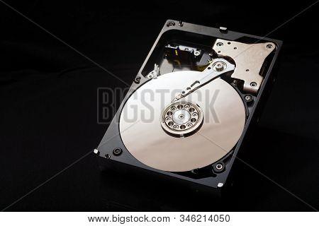 Internal Parts Of The Hard Drive. Hdd. Computer Memory. Modern Technologies. Computer Repair. Data S