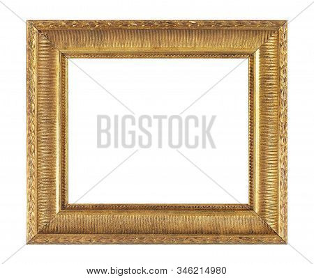 Isolated Photo Frame, Golden Antique Photo Frame, Vintage Frame.isolated Photo Frame, Golden Antique