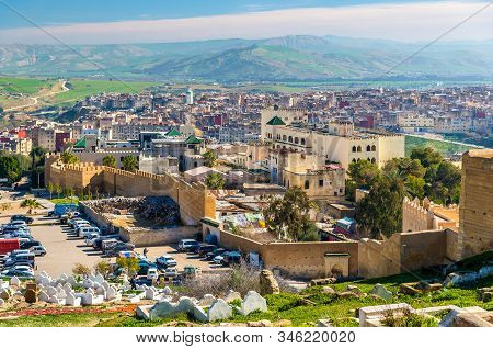 Fortified Walls And Towers Around The Medina Of Fes In Morocco