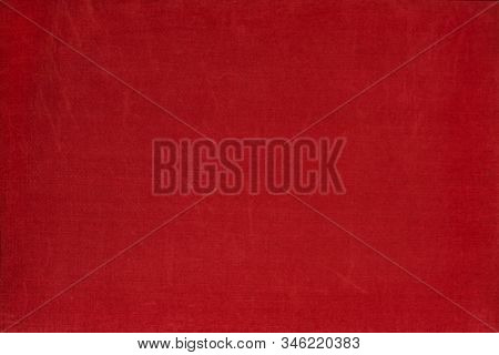 Natural Grange Fabric Texture. Textile Vintage Background. Abstract Red Backgrounds, Empty Template.