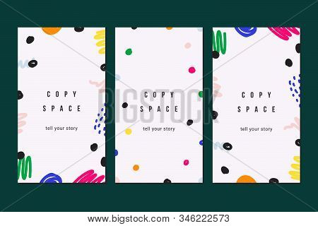 Collection Of Modern Abstract Templates For Socila Media Story Posting, Minimal Trendy Flat Backgrou