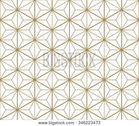 Fine Seamless Japanese Pattern Kumiko For Shoji Screen.great Design For Any Purposes. Japanese Patte