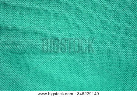 Texture Background Of Mint Green Or Light Azure Blue Color. Grainy Fiber Cloth Material, Abstract Ro