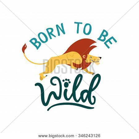 Born To Be Wild Cute Greeting Card With Jumping Lew