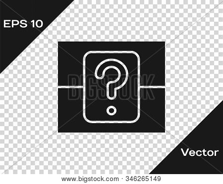 Grey Mystery Box Or Random Loot Box For Games Icon Isolated On Transparent Background. Question Box.