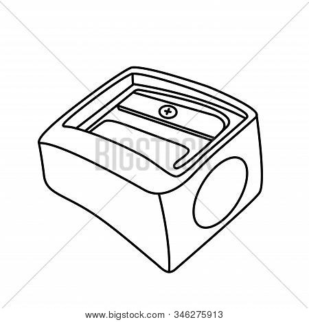 Pencil Sharpener Icon Line Symbol. Premium Quality Isolated Sharpen Element In Trendy Style