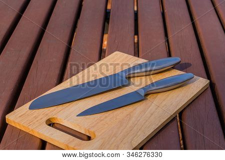 Chef's Knife, Steak Knife, And Honing Steel