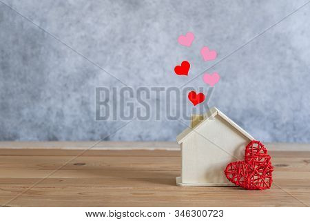 Accessories Of Decorations Valentine's Day Holiday Background Concept.essential Items Colorful Paste