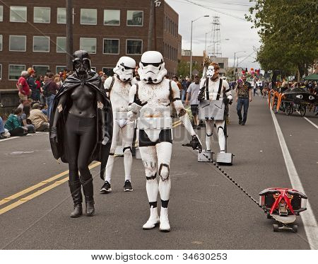 Darthette Vader And Storm Troopers