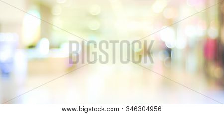 Blurred Background : Blur Modern Office With Bokeh Light Background, Blurry Abstract Banner, Blur St
