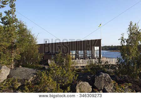 Nordmaling, Sweden On September 01. Early Morning At Café Lotsen On September 01, 2019 In Nordmaling