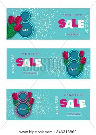 International womens day poster. 8 march holiday, womans day holiday, women's day holiday background, womens day banners, womens day holiday flyer, womens day holiday design, womens day with flowers on red background, Copy space text area, vector illustra