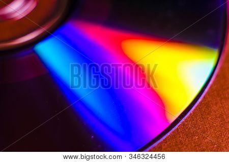 Close up image pf a CD disk