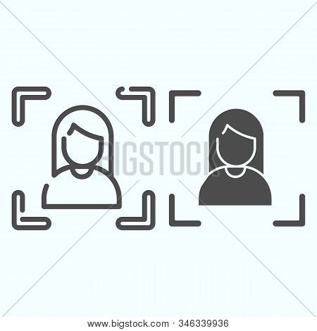 Focusing Line And Solid Icon. Camera Focusing Vector Illustration Isolated On White. Focus On Portra