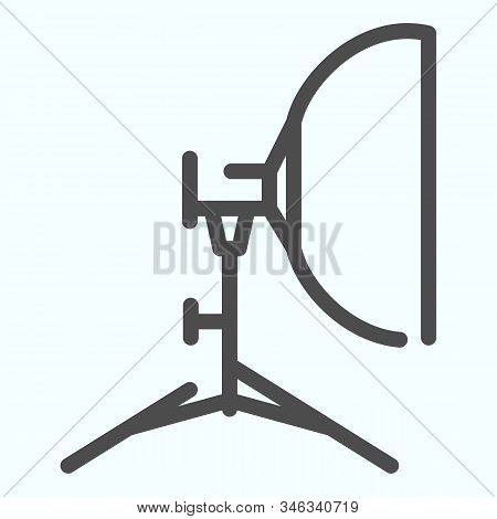 Floodlight Line Icon. Lamp To Power Light For Photography Vector Illustration Isolated On White. Spo