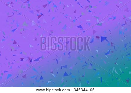 Gradient Random Abstract Geometrical Triangle Web Site Background - Chaotic Vector Graphic With Tria