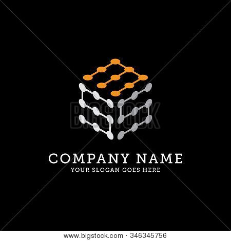 Sms Hexagonal Logo Template, Connection Logo Vector, It Is Good For Your Company, Corporate