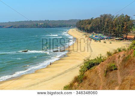 View Of Keri Or Querim Beach In North Of Goa. India