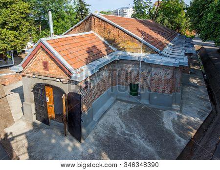 Azov, Russia - July 27, 2019: The Building Of The Powder Cellar Of The Azov Fortress, Azov Rostov Re