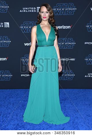 LOS ANGELES - DEC 16:  Emily Swallow arrives for the ÔStar Wars: The Rise of SkywalkerÕ Premiere on December 16, 2019 in Hollywood, CA
