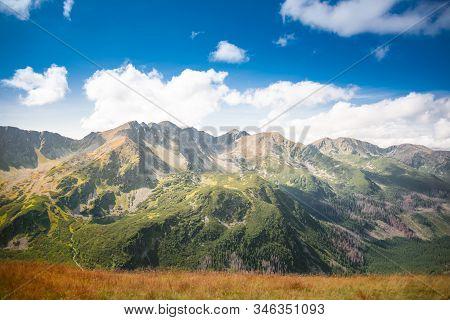 Western Tatra Mountains Panorama - Slovakian Rocky Summits: Banikov, Pachol, Banikovske Sedlo, Spalo