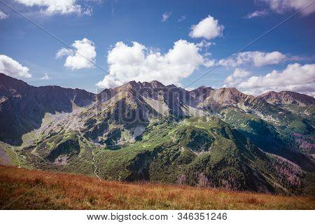 Banowka And Trzy Kopy - Western Tatra Mountains Range Summits During Sunny Autumn Day