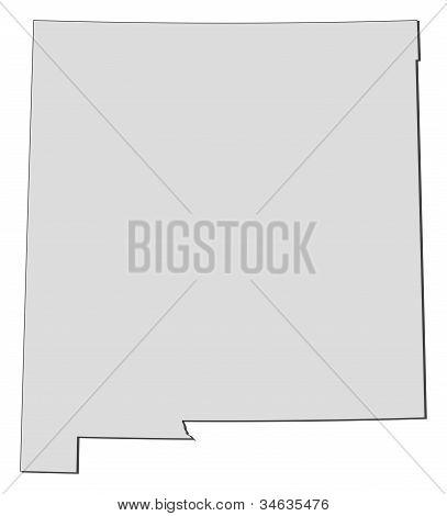 Karta i New Mexico (USA)