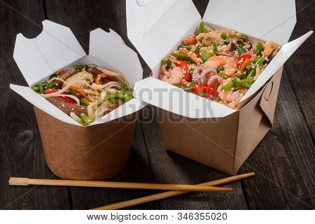 Japanese Takeaway Food Packaged In Special Boxes