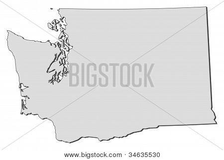 Map Of Washington (united States)