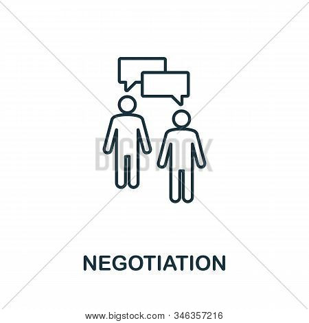 Negotiation Line Icon. Thin Style Element From Business Administration Collection. Simple Negotiatio