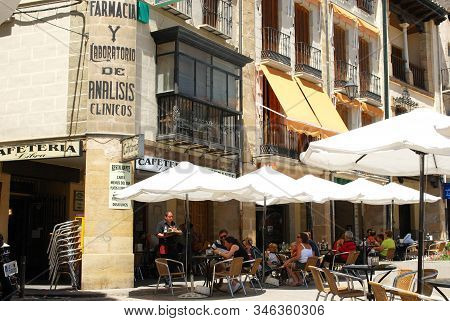 Ubeda, Spain - July 28, 2008 - Pavement Cafes In The Town Centre, Ubeda, Andalucia, Spain - July 28,