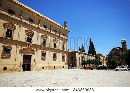 Ubeda, Spain - July 28, 2008 - The Town Hall, Palacio De Las Cadenas (chains Palace), Ubeda, Andaluc