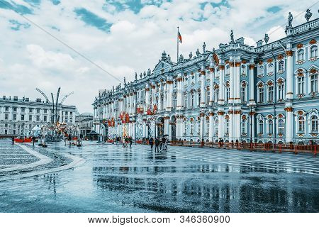 Winter Palace And Hermitage Museum.  Saint Petersburg. Russia.