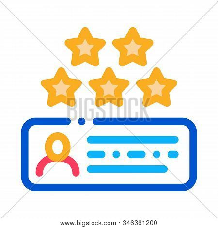 Review Stars Icon Vector. Outline Review Stars Sign. Isolated Contour Symbol Illustration