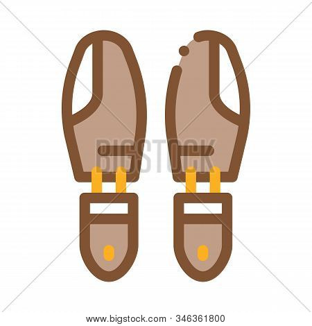 Shoe Sole Detail Icon Vector. Outline Shoe Sole Detail Sign. Isolated Contour Symbol Illustration